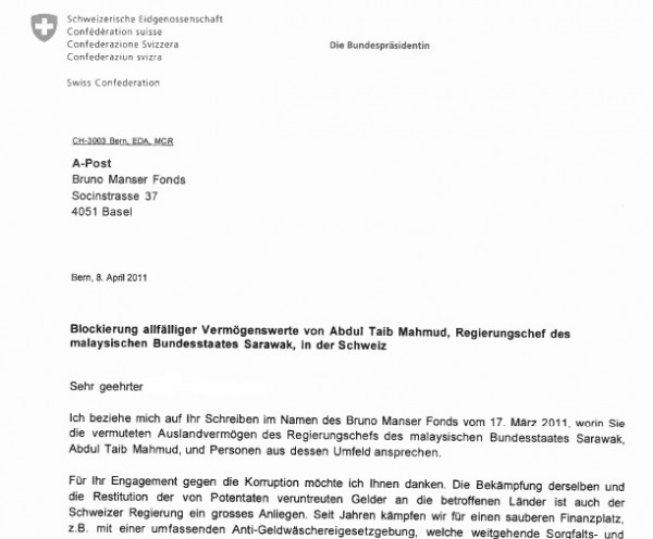 swiss president orders an investigation into taib u2019s assets